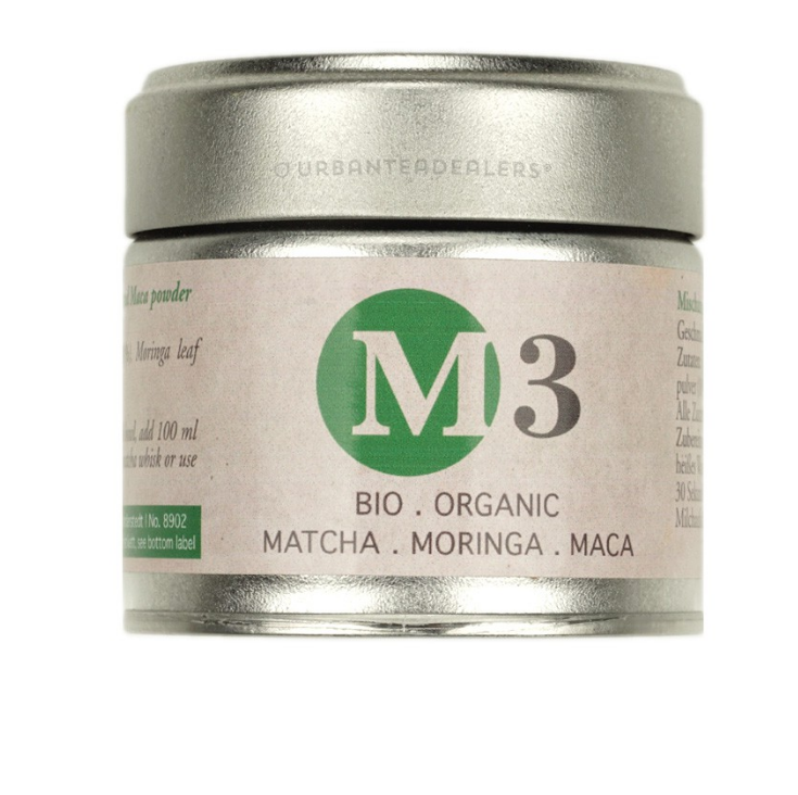 Bio Organic Matcha Tea with Moringa and Maca Root Powder