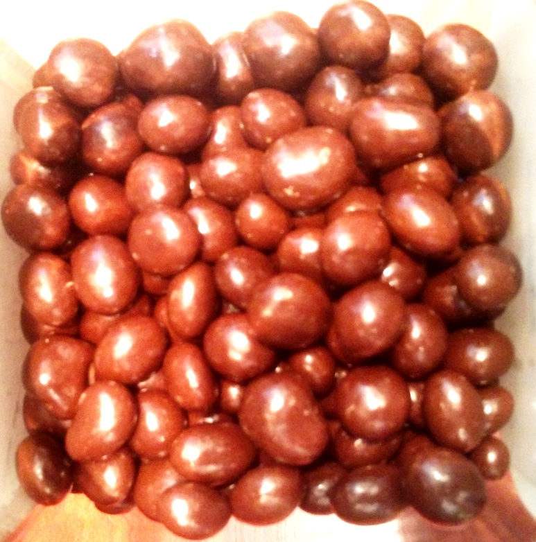 Coffee beans coated with Belgian chocolate