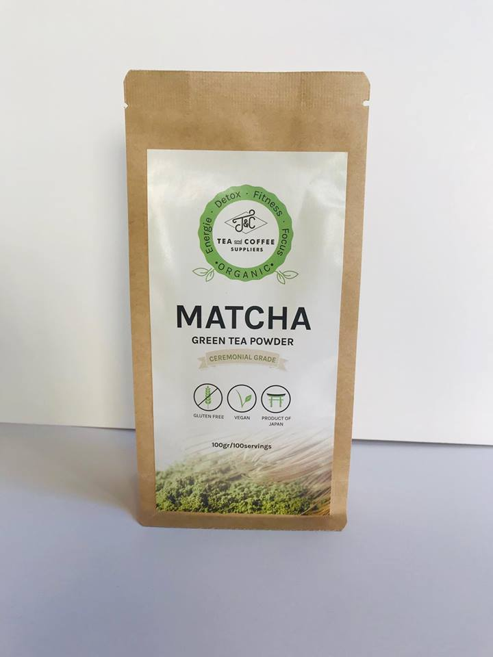T&C Organic Matcha Green Tea Powder - Ceremonial Grade