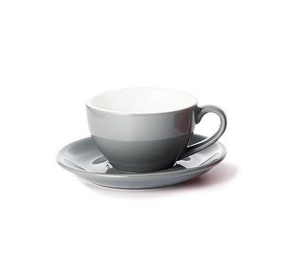 Porcelain Cup and Saucer SAARA - Grey - 0,17 l