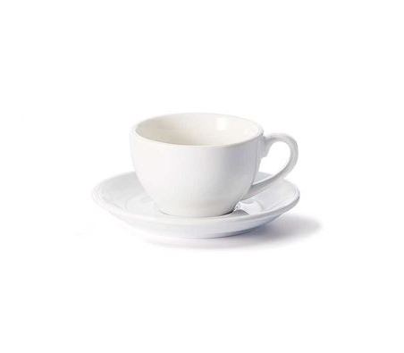 Porcelain Cup and Saucer SAARA - White - 0,17 l