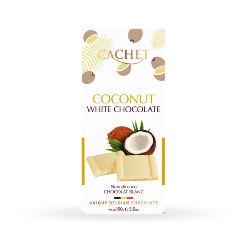 CACHET White Chocolate with Coconut