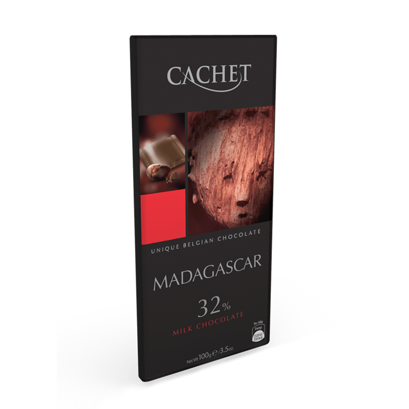 CACHET Milk Chocolate 32% Cocoa Madagascar Origin