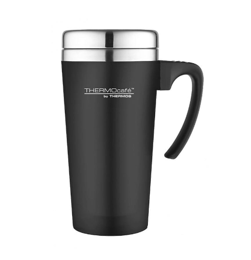 THERMOS THERMOCAFE SOFT TOUCH TRAVEL MUG 400 ml - BLACK