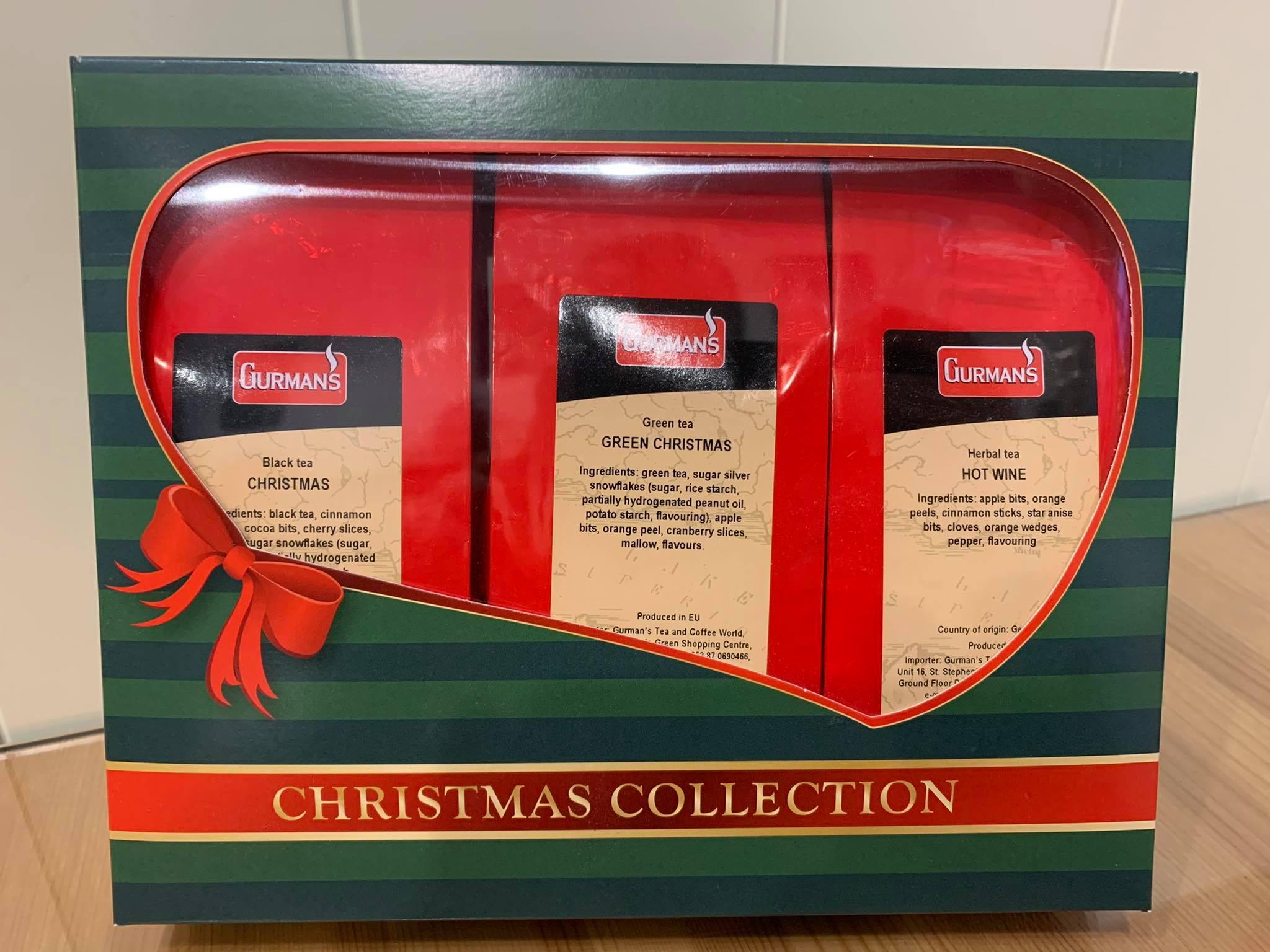 GURMAN'S CHRISTMAS TEA COLLECTION - 3x100g