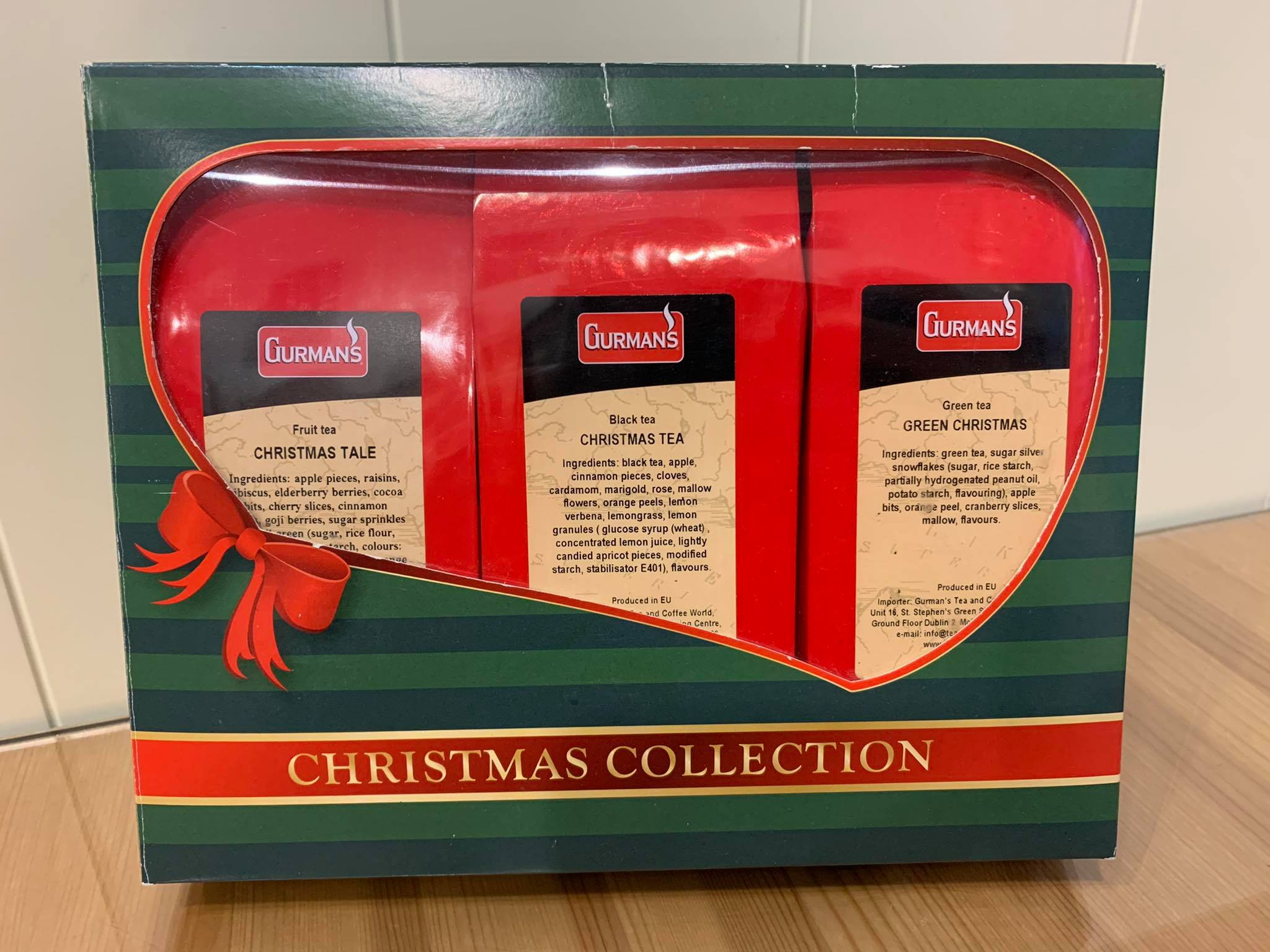 GURMAN'S CHRISTMAS TEA COLLECTION 3x100g
